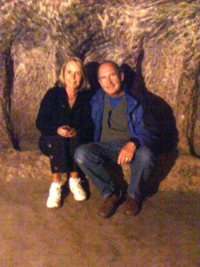 Peg and Steve in Kaymakli underground city in Cappadocia, Turkey