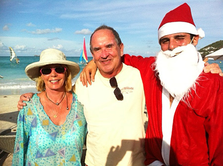 Santa finds us at La Plage