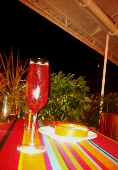 Sparkling Wild Strawberry Coupe after dinner drink at the Wall House