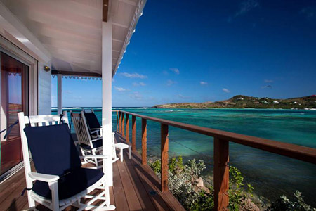 One of the many ocean views and fabulous porches at the Admiral Suite