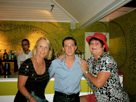Peg-with-Aymeric-Bourdin,-Hotel-Tom-Beach's--Assistant-Manager-and-Paula-at-La-Banane