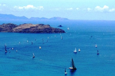 Les Voiles de St. Barth race into Lorient Bay