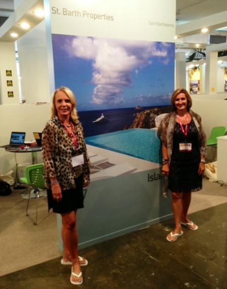Pascale and I in front of our booth on Havaianas Day - Our feet said, Oh what a relief it is