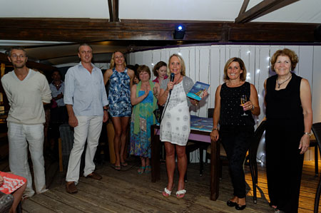 Part of The SBP Team at the 2012 Beachside Bash: (L to R) Ted, Benoit, Magda. (Mai hidden) Connie, Nadine, Peg, Pascale, Kathy