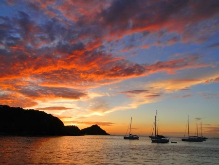 Sunset in St. Barth