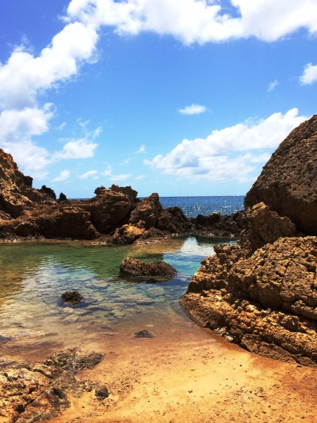 The Natural Pools in Grand Fond are formed as a result of the surf crashing over the rocks and trapping the water