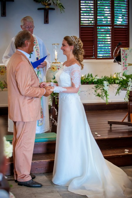 That afternoon Roy and Mary were married (again) at the Anglican Church in Gustavia.