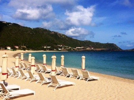 I walked out from my Beach Front Suite's private yard and took this early morning photo of gorgeous Flamands Beach. June is a wonderful time to visit St. Barth.