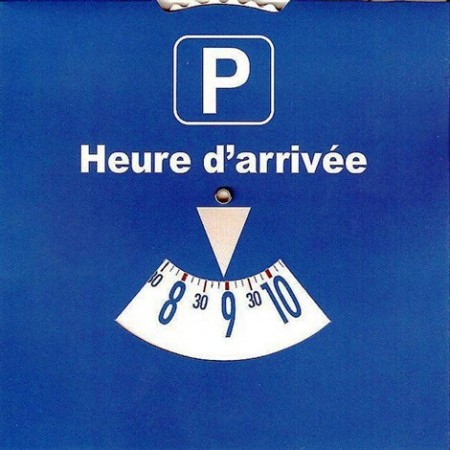 Blue Disk for parking in certain areas of St. Barth