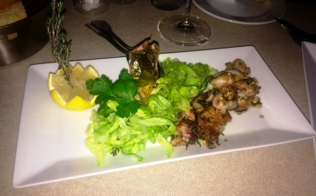 Provença's Fresh Baby Octopus, just jumped with Garlic and parsley - 22 €