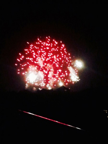 We were treaated to a Fireworks display on our very first night.