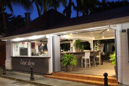 Carpe Diem restaurant on the La Pointe side of Gustavia harbor, St. Barth is getting rave reviews.