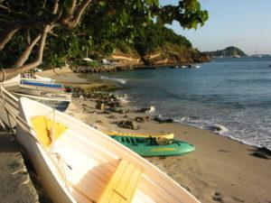 Corossol Beach Before Resanding