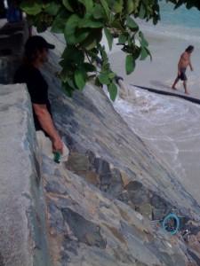 Corossol Beach Resanding in Progress