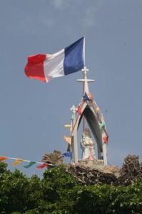 Corossol Patron Saint St. Louis Statue