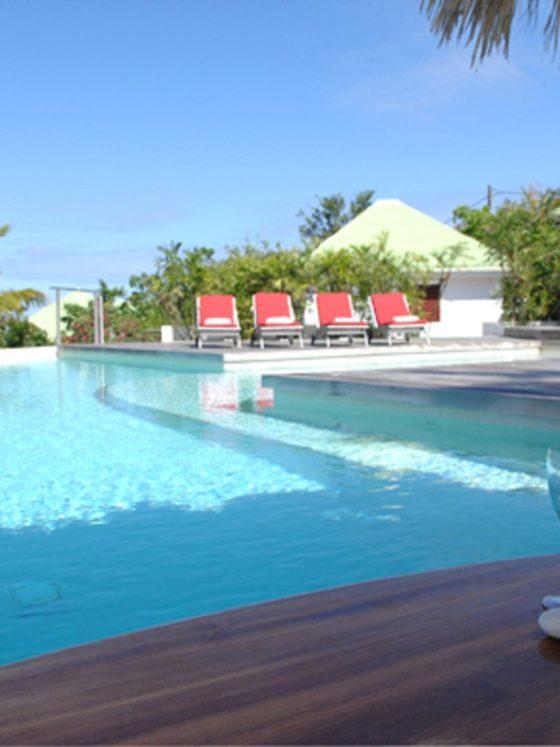 Villa Cygne pool and bar