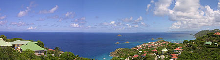 Villa Cygne view over Gustavia harbor