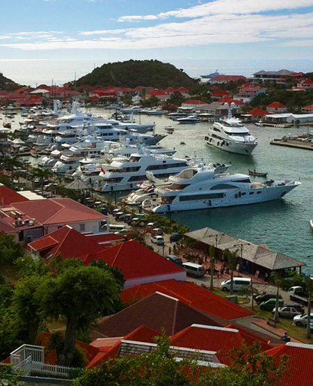 Yachts in Gustavia Harbor