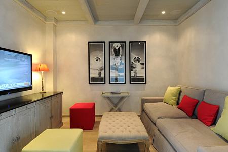 Media Room - Hotel St. Barth Isle de France 3 bedroom villa