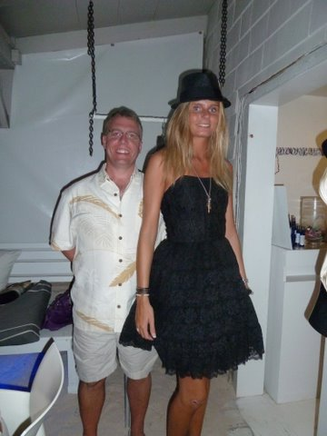 Mark wanted his picture taken with the model at  La Plage