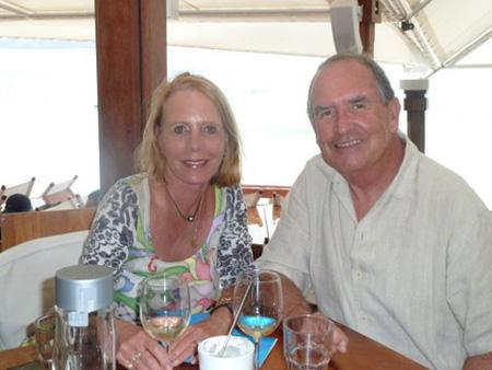Peg and Steve at Nikki Beach
