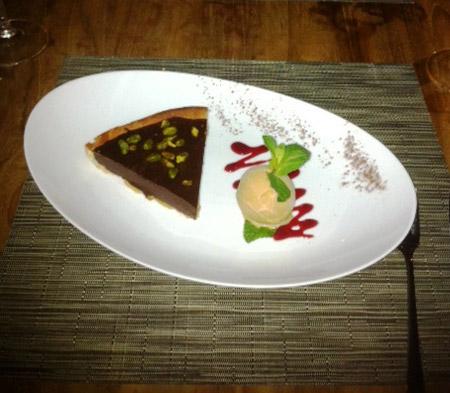 Taïno's Tarte au Chocolat avec Pistache