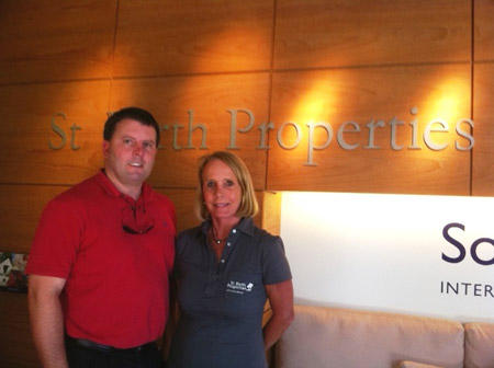 Tom and Peg at St Barth Properties island office Jan 27, 2011