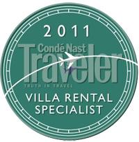 2011 Villa Rental Specialist Medallion