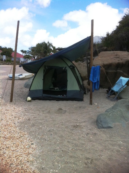 Camping on Shell Beach