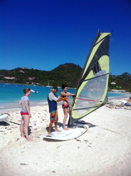 Windsurfing lesson at St. Jean Beach with Jean Michel