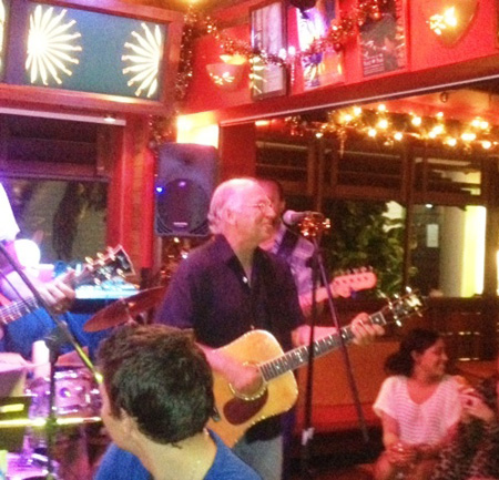 Jimmy Buffett sings Volcano at the Baz Bar December 26, 2011