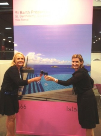 Pascale and I at our Travelweek booth in Sao Paulo