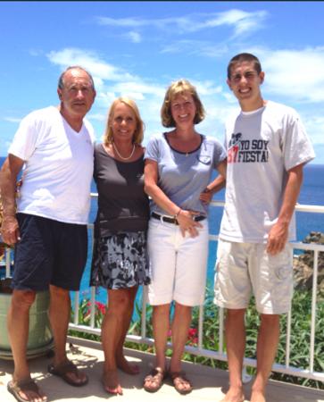 Steve and I at Villa Grand Galet with Kim and Matt