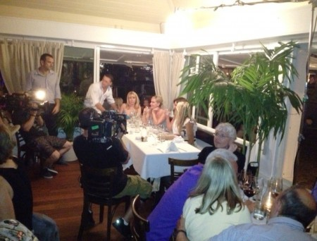 The Real Housewives of New York City - RHONY- dining in St. Barts amongst the dentists