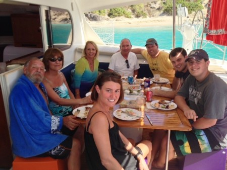 Lunch by Colombier Beach aboard the St. Barth Sailor's catamaran