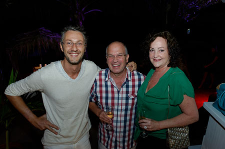 Beachside Bash 2012 - Ted with Bob and Marilyn (Villa La Danse du Soleil)