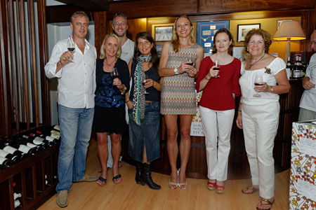 Part of the SBP Team at the 2012 Beaujolais Nouveau: Benoit, Peg, Ted, Mai, Magda, Nadine, Kathy