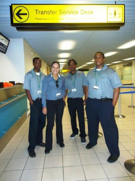 Easyway VIP Team in Sint Maarten from left to right Jeffrey, Leslie, James and Shawn