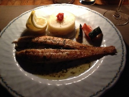 Here is my Dover Sole that I enjoyed at Santa Fe