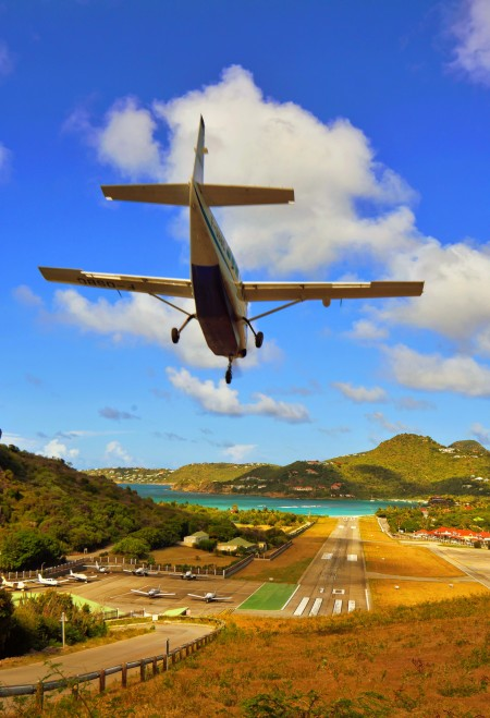Landing in St. Barth
