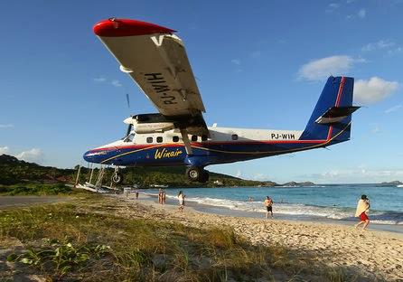 Winair landing