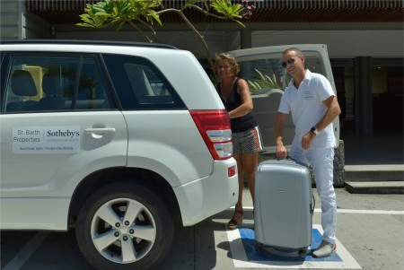 Odile and Franck put the luggage into the car. Just follow your greeter to your villa, get a tour, settle in and Live Your Dream®!