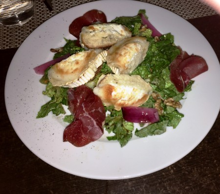 Carpe Diem's yummy version of Goat Cheese Salad.
